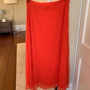 Lila Rose orange red maxi skirt